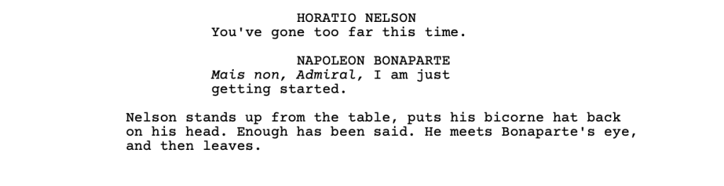 Another example screenplay, this time without too much direction for the actors.