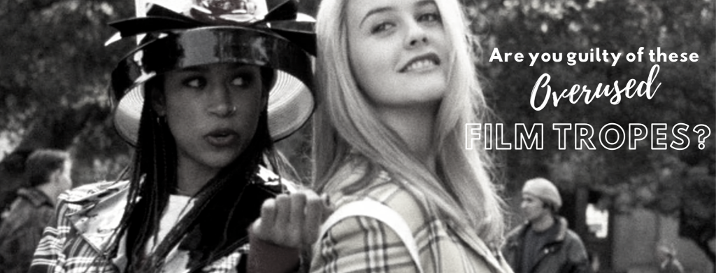 """Header image depicting Cher and Dionne from Clueless. An example of the Black Best Friend tropes. Text reads; """"are you guilty of these overused film tropes?"""""""